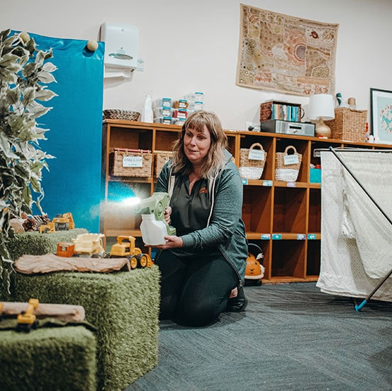cleaner cleaning toys in childcare centre in hobart