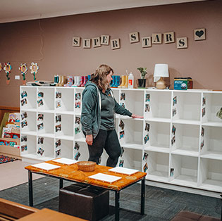 cleaner inspecting cleanliness in childcare centre in hobart