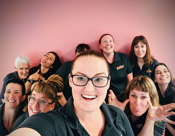Peachie clean team photo for cleaning jobs in Hobart
